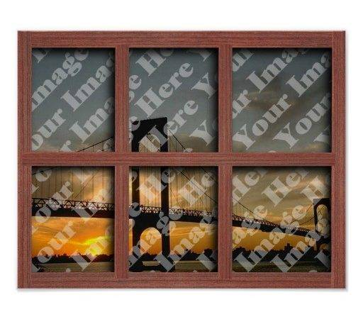 Create Your Own Pane Red Wood Window Frame Print Zazzle