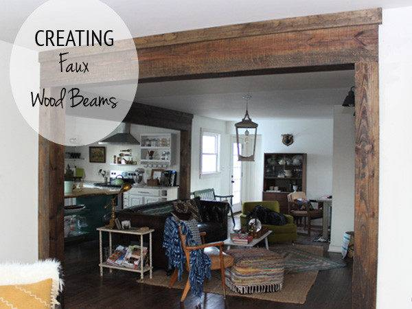 Creating Faux Wood Beams Thewhitebuffalostylingco