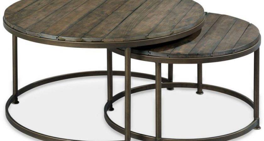 Creative Black Metal Outdoor Coffee Table Round