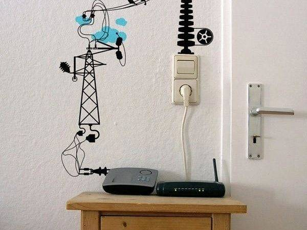 Creative Diy Ideas Hide Wires Wall Room