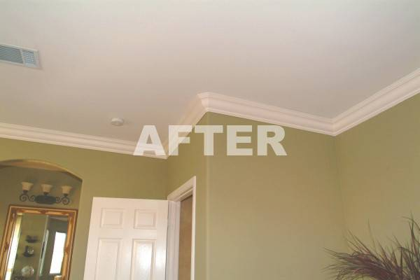 Crown Molding Before After Foam