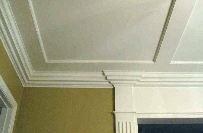 Crown Molding Before After Living Room