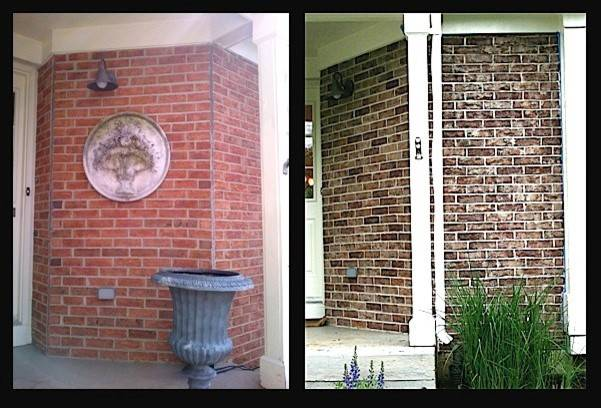 Crystal Lake Exterior Brick Staining Project