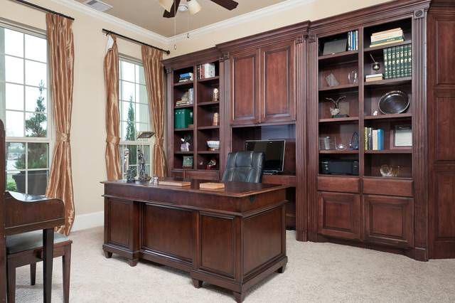 Custom Built Cabinetry Traditional Home Office