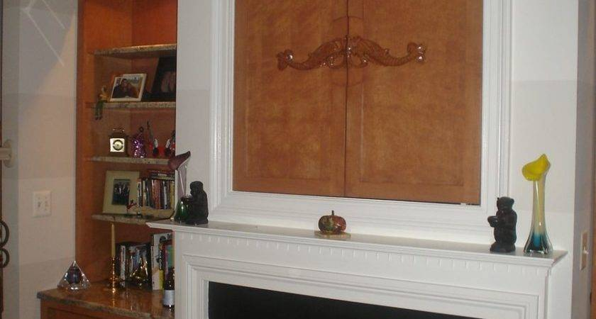 Custom Built Ins Around Fireplace Kent Cabinetry