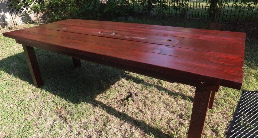 Custom Patio Table Built Cooler Thh Creations