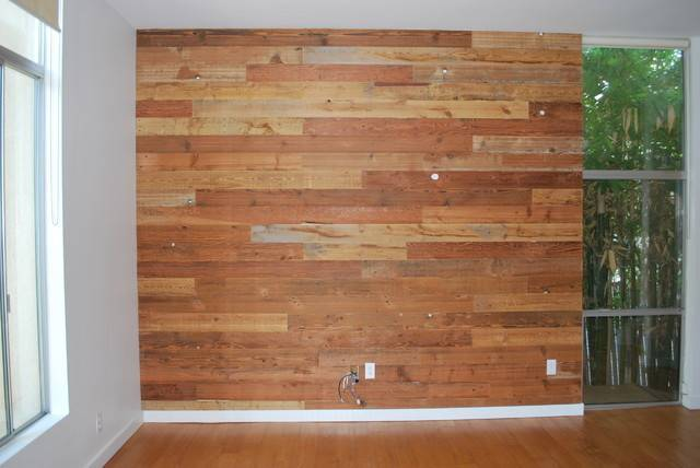 Custom Reclaimed Wood Accent Wall Rustic Salt Lake