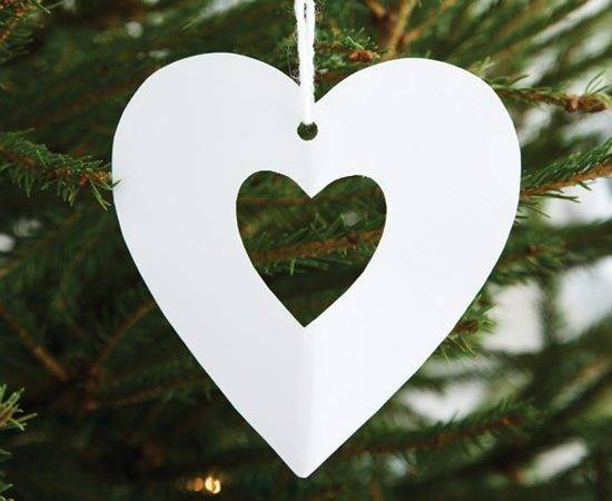 Cut Out Hearts Make Christmas Decorations