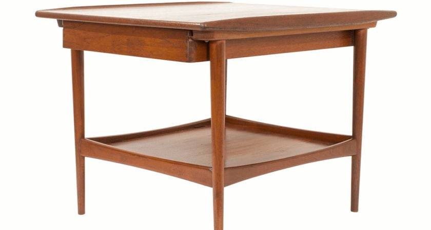 Danish Modern Teak Side Table Midmod Decor