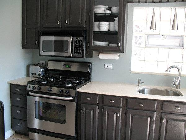 Dark Brown Paint Color Kitchen Cabinets Archives