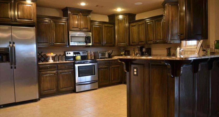 Dark Brown Shaker Kitchen Cabinets Deductour