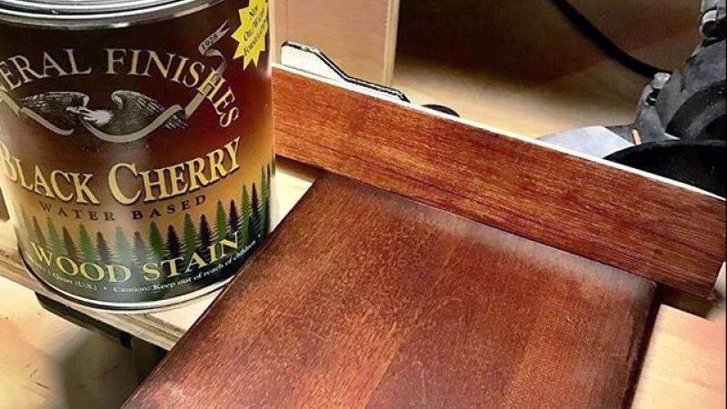 Dark Cherry Water Based Wood Stain General Finishes