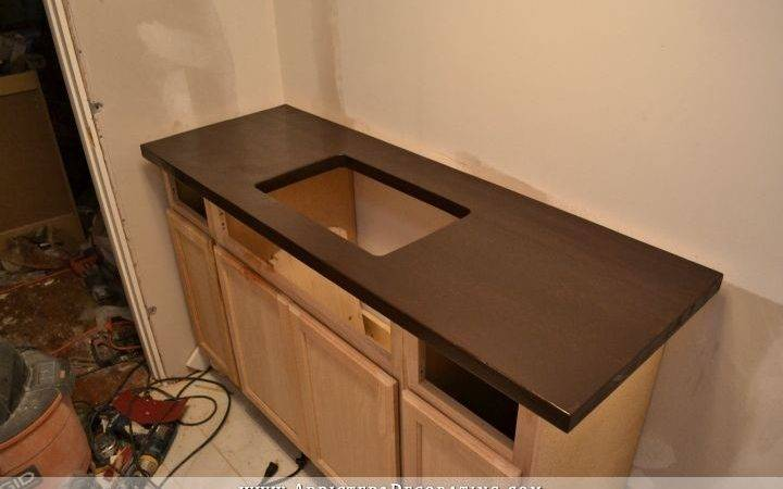 Dark Stained Diy Butcherblock Countertop