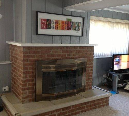 Dated Brick Fireplace