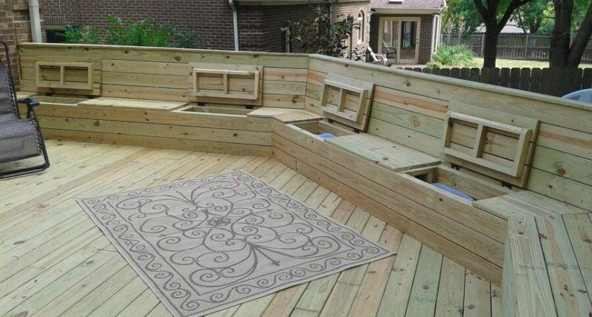 Deck Plan Built Benches Seating Storage
