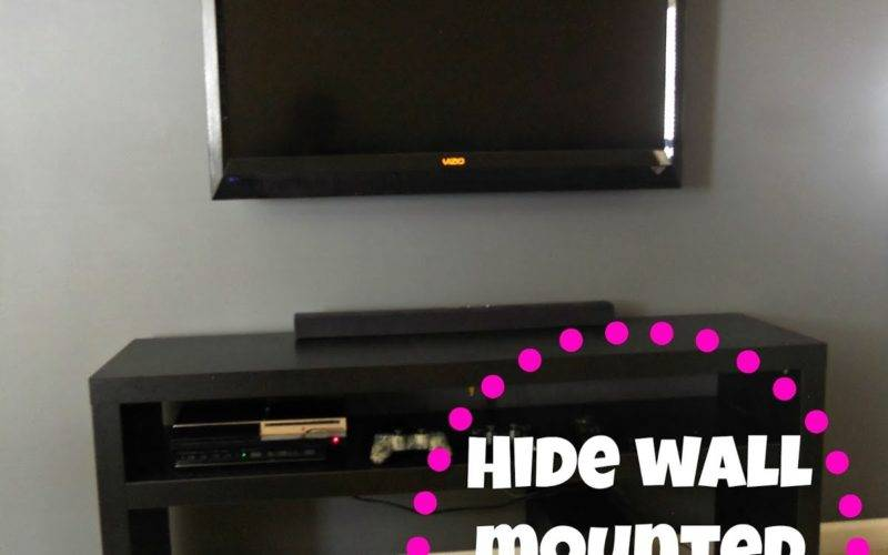 Decorating Cents Wall Mounted Hiding Cords