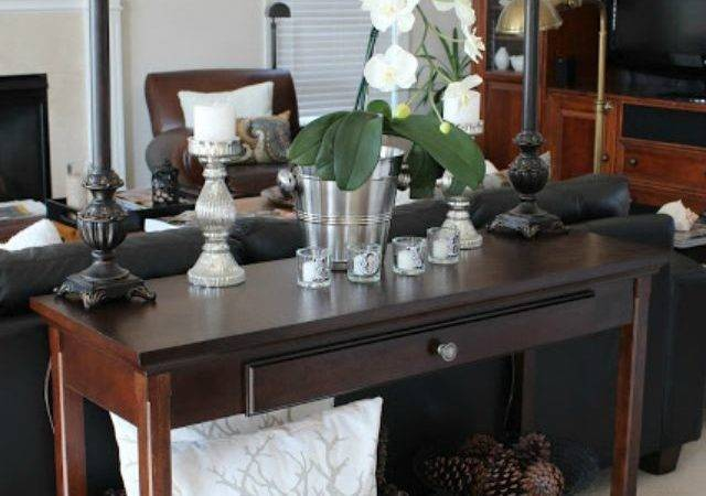 Decorating Sofa Table Behind Couch Console