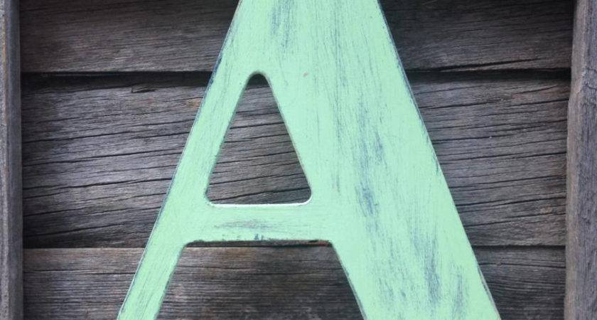 Decorating Wooden Letters