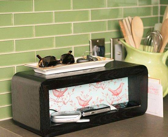 Decorative Charging Station Organize Now Simple Weekend