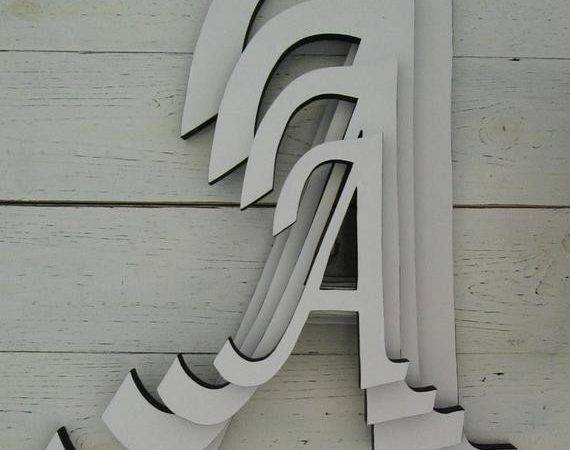 Decorative Wall Letters Large Inch Wooden