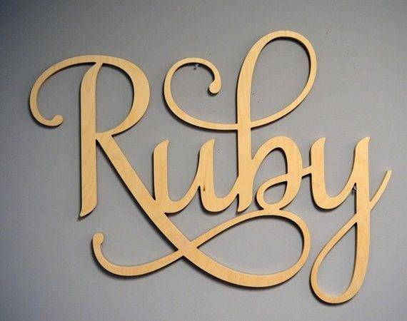 Decorative Wall Letters Nursery Decor Large Wooden