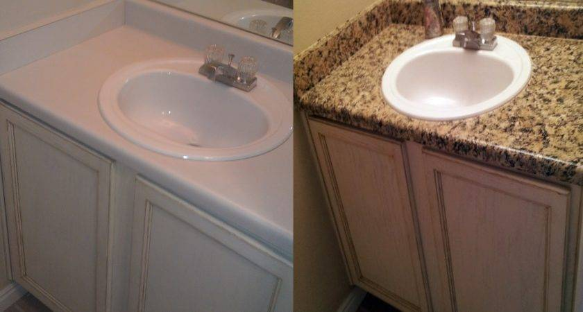 Delleydew Painted Faux Granite Countertop