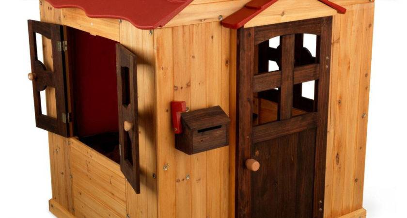 Deluxe Wooden Playhouse Decosee