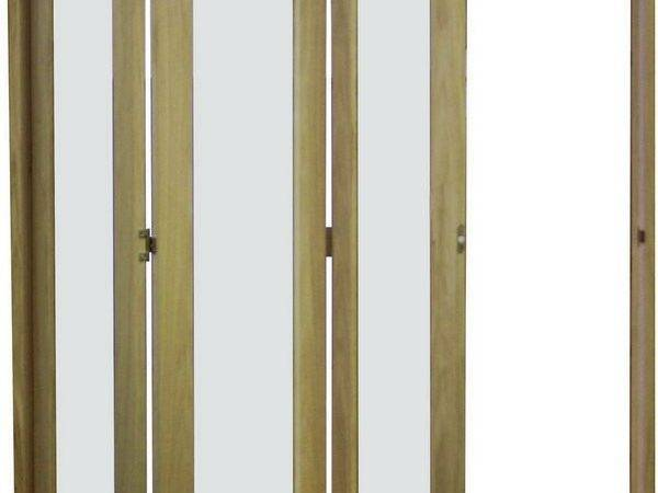 Derwent Slide Aside Clear Glazed Oak Room Divider Door Set