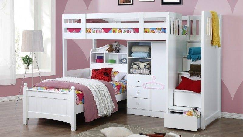 Design Bunk Bed Single Stair Cindy