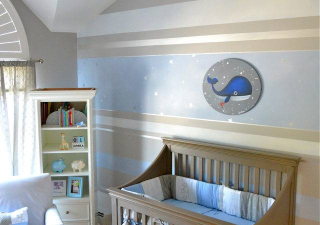 Design Reveal Stripe Whale Project Nursery