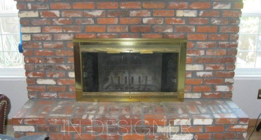 Designer Jeans Brick Fireplace Makeover