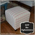 Did Reupholstering Cube Ottomans Tutorial Lilacs