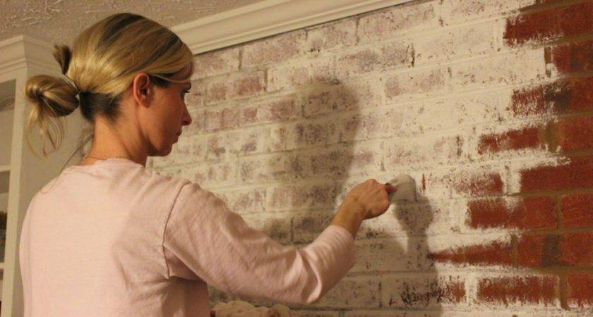 Did Want Whitewash Brick Fireplace Your House