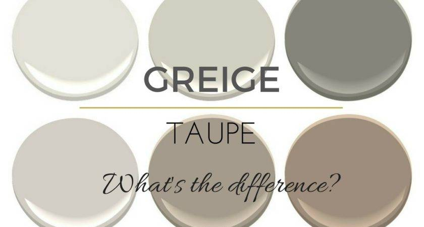 Difference Between Greige Taupe Paint Colours