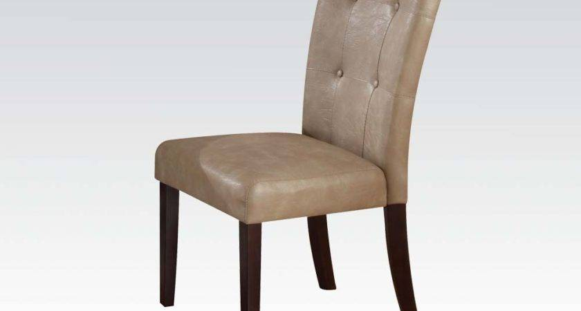 Dining Chairs Button Tufted Seat Back Chair