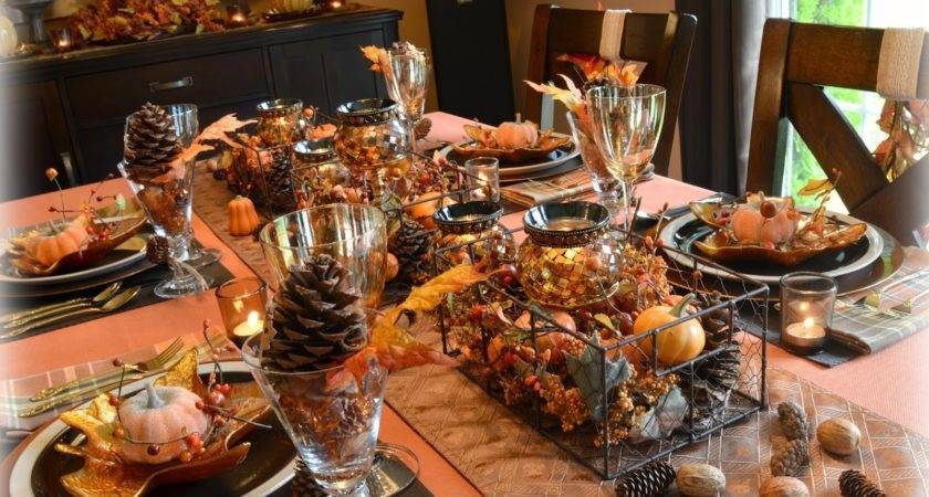 Dining Delight Autumn Mountains Tablescape