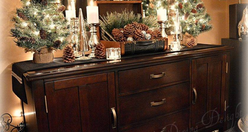 Dining Delight Pine Cones Candles Christmas