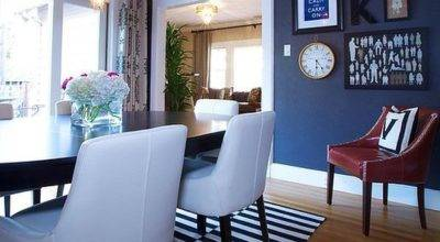 Dining Out Your New Navy Blue Room