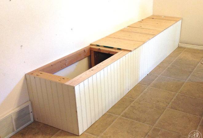 Dining Room Built Bench Storage Houseful