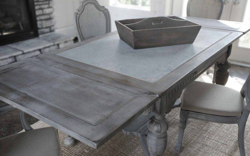 Dining Table Galvanized Metal Top