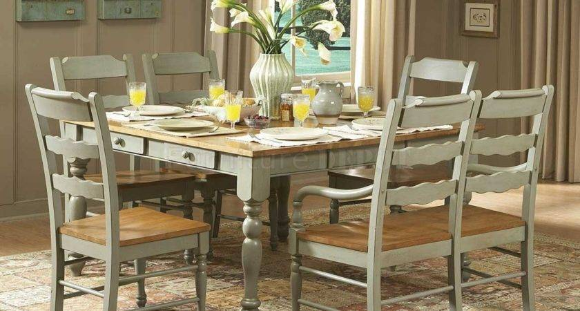 Distressed Dining Room Table Chairs Marceladick