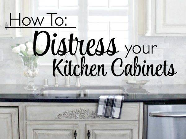Distressed Kitchen Cabinets Distress Your
