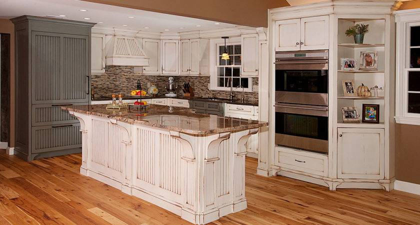 Distressed Kitchen Island Custom Cabinetry Ken Leech