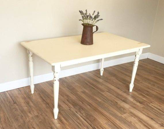 Distressed Kitchen Table Small White Dining Country