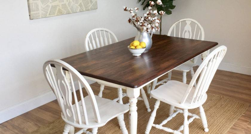 Distressed Kitchen Table Small White Dining