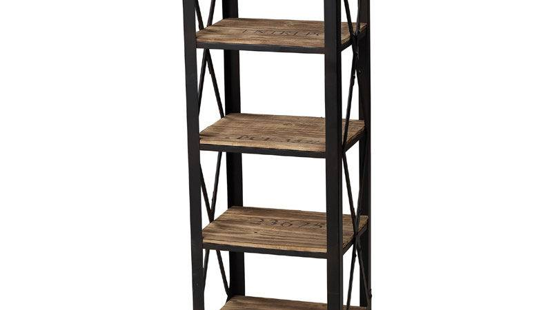 District Industrial Stamped Bookcase Bookshelves