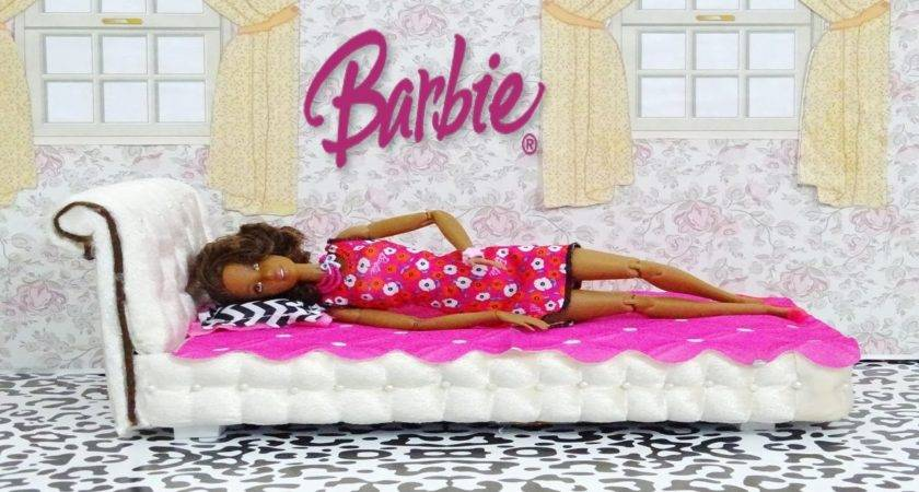 Diy Barbie Doll Bed Make Youtube