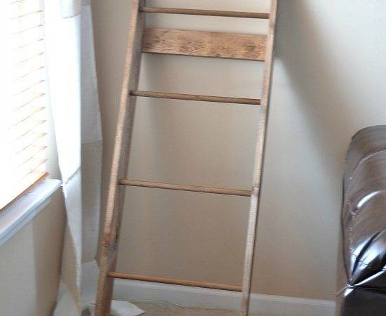 Diy Blanket Rack Ladder