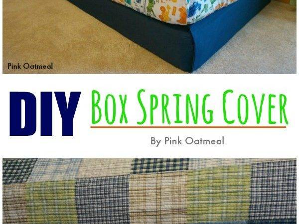 Diy Box Spring Cover Pink Oatmeal