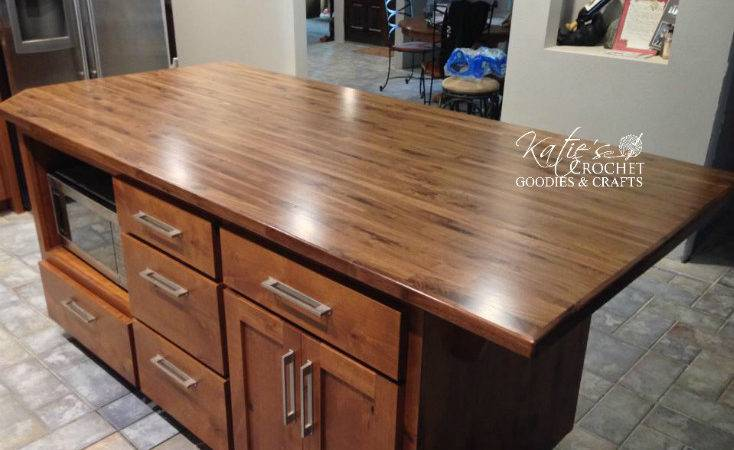Diy Butcher Block Countertops Katie Crochet Goodies